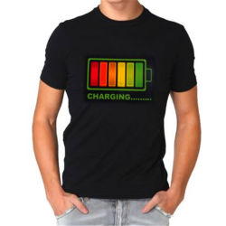 Camisetas activadas sonido del equalizador