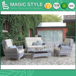 Jeu de plein air canapé en osier avec coussin canapé 2 places en rotin Jardin canapé en osier Tissage en osier Canapé canapé de meubles en osier de loisirs