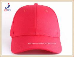 Pulido de alta calidad Gran Llanura de sarga de algodón Gorra roja