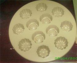 高品質のプラスチック昇進のケイ素のアイスケーキの立方体の皿(044)