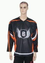 Haut de page personnalisé de vente de sublimation Healong homme maillot de hockey sur glace