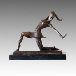 Messingstatue TPE-177 der Tänzer-Bronzeskulptur-Dame-Carmona Deco
