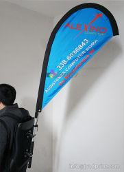 sport polyester vliegende teardrop rugzak vlag banner