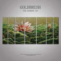 Цветок лотоса 7 панелей/Set металлической стенки аппарата / Искусство для летнего