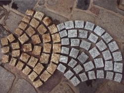 玉石の石を舗装する中国の工場景色