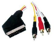 Scart Plug 3 al RCA Plugs