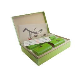 贅沢な高品質の緑書の包装の茶ボックス
