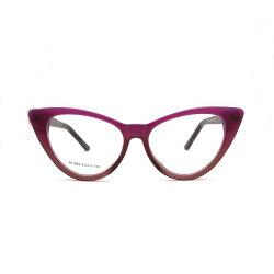 Sin MOQ nuevos años de 2019 Inicio Venta de gafas de acetato de gafas de Ojo de Gato bastidor bastidor Óptico (RT1063)