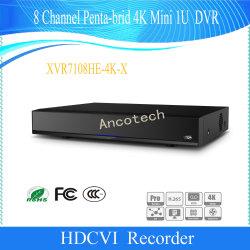 8 Канал Penta-Brid Dahua 4K Mini 1u цифровой видеорегистратор (XVR7108он-4K-X)