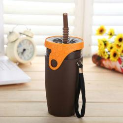 Mok van de Koffie van het Stro van Twizz van Neolid de Plastic met Roterend Deksel (gelijkstroom-tw-350)