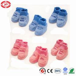 أحذية هدايا ناعمة وردية وثيرة للأطفال والزرقاء