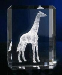 Figurine de cristal avec image de cheval