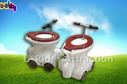 Jeu de course de voiture de Toilette, Toilettes gonflable des manèges, des toilettes manèges voiture