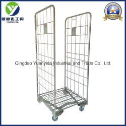 2-côtés plaqué zinc Wire Mesh palettes rouleau/rouleau conteneurs/supermarché main Chariot de stockage