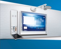 Pizarra interactiva con todo en uno para el aula multimedia
