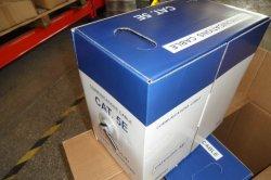صندوق السحب كبل UTP (كبل مزدوج مجدول غير محمي) بطول 305 م بطول 300 م من Cat5e
