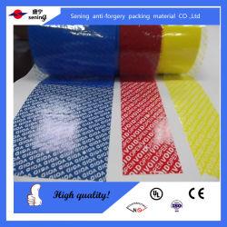 Custom Tamper Evident Adhesivo de seguridad en cinta de seguridad