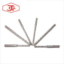 SDS plus Brocas martillo eléctrico de vástago de acero de alta velocidad de giro recto, aluminio, el cobalto