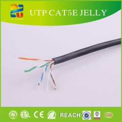 24AWG UTP Cat5e Jelly Câble (câble étanche de plein air)
