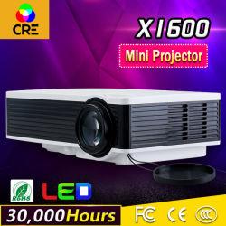 Us$53 LCD LED Mini proyector de vídeo barata con la tarjeta del TF HDMI USB