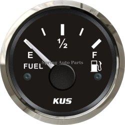 """2"""" étanche 52mm Jauge de niveau de carburant Indicateur de niveau de carburant 12V 24V avec rétroéclairage pour le BATEAU DE PLAISANCE MOTO de voiture"""
