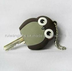 Adorável Owl a tampa da chave de borracha de PVC