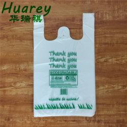 HDPEのスーパーマーケットのための明白で白いプラスチックTシャツのショッピング・バッグ