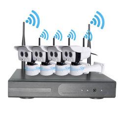 4CH NVR Kit CCTV HDMI 1080p Full HD con 4PC Soporte de la cámara IP de 2MP Detector de Alarma Inalámbrica de 2TB de disco duro ONVIF