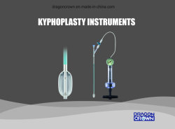 Dragon Crown Kyphoplasty Bomba de enchimento do balão Pkp Instrumentos Cirúrgicos Sistema de coluna Dispositivo de insuflação do balão.