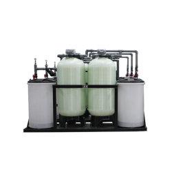 Réservoir double échange ionique adoucisseur d'eau industrielle