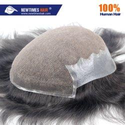 Stock Envío inmediato del 100% Humano Sistema de Cabello pelucas de reemplazo para los hombres