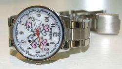 高品質の流行のシリコーン物質的な水証拠の金属の腕時計