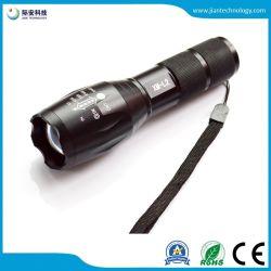 Tactical gran cantidad de lúmenes Zoom de 5 modos resistente al agua de 18.650 o 3 pilas AAA L2 linterna LED