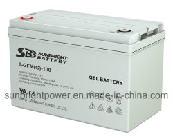 CE RoHS 규제 UL 인증과 12V100AH 젤 배터리