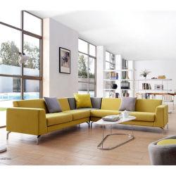 Wildleder Sofa moderne Frank Möbel Sofa Leder Lounge Suite und Lobby Fabric Sofa Modulare Couch L-Form Sofa-Set
