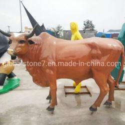 Beeldhouwwerk van de Stier van de Koe van het Vee van de Hars van de douane het Dierlijke voor Decoratie (gsr-104)