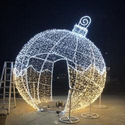 O LED 3D luz decorativa da esfera gigante para férias de Natal