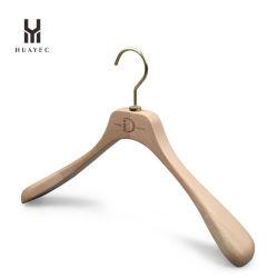 Hanger van het Kledingstuk van de douane de Houten Rubber voor Vrouw met Haak