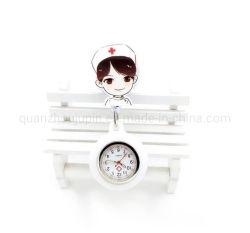 OEM Cartoon Women Lovely Badge Reel Nurse Watch