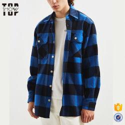 Diseño hecho personalizado Abajo camisas para hombres 100% algodón camisas de franela Plaid