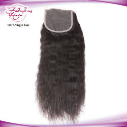 Top Kwaliteit Braziliaanse Virgin Sluiting Kinky Straight Lace Sluiting 4*4
