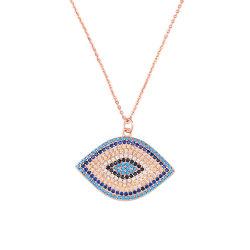 Le turc 925 Sterling Silver TURQUOISE Pendentif en pierre Cz Diamond Eye