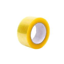 Un fuerte adhesivo resistente al agua de color amarillento BOPP Cinta de embalaje de pegamento acrílico