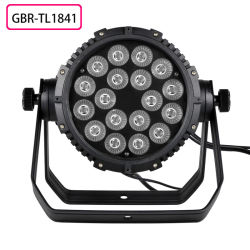 Gbr Lighting Factory Produce 18X10W RGBW 4in1 Color DMX LED PAR Can Light