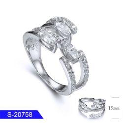 卸し売り新しいモデルの方法女性のための花嫁の宝石類の純銀製の立方ジルコニアの石のリング