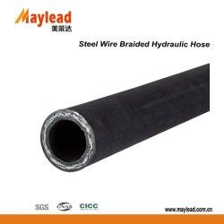 3802 Fil d'acier à haute pression hydraulique tressée flexible en caoutchouc
