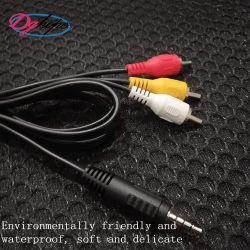 Fiche stéréo Hot Câble AV pour connecteur audio vidéo RCA