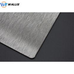 Surface de finition brossé Carte PVC Plaque en acier de contrecollage