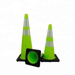 Зеленый светодиод мигает съемные трафик конус для предупреждения для установки вне помещений