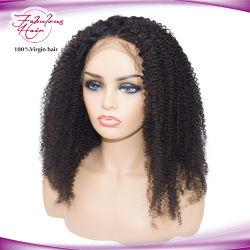 Não Remy Cabelo humano brasileiros afro ondulado com todo o cabelo do bebé Lace Peruca
